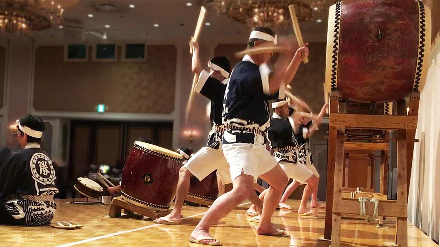 プラザホテル 太鼓演奏風景